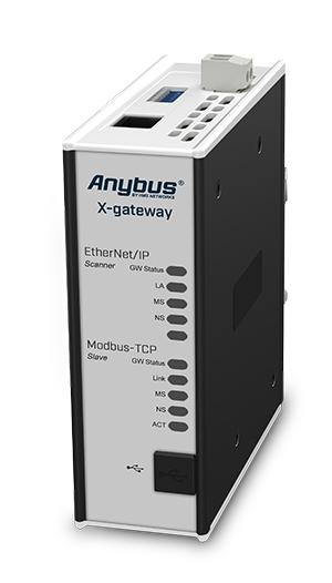 Anybus X-gateway – EtherNet/IP Scanner - Modbus TCP Server