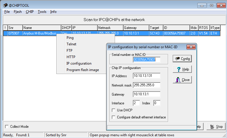 CHIPTool configuration software
