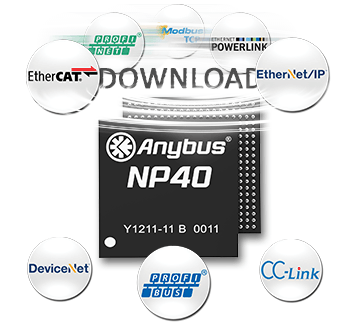 Anybus CompactCom C40 Chip